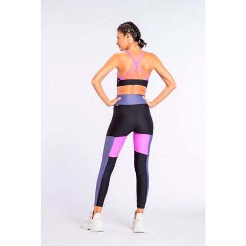 Legging Square Block Color Preta - Live! na internet