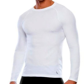 Camiseta Run ML Branco Masculino - Lupo