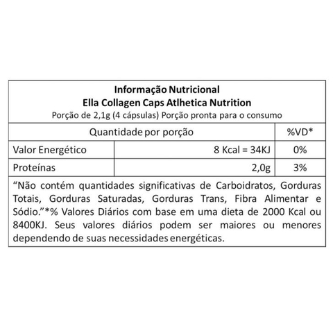 Ella Collagen 120caps - Atlhetica Nutrition - comprar online