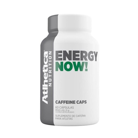 Energy Now Caffeine 60 caps - Atlhetica Nutrition