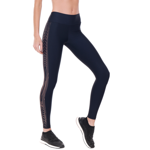 Legging Compression 06524 Preto/Cobre- Rola Moça