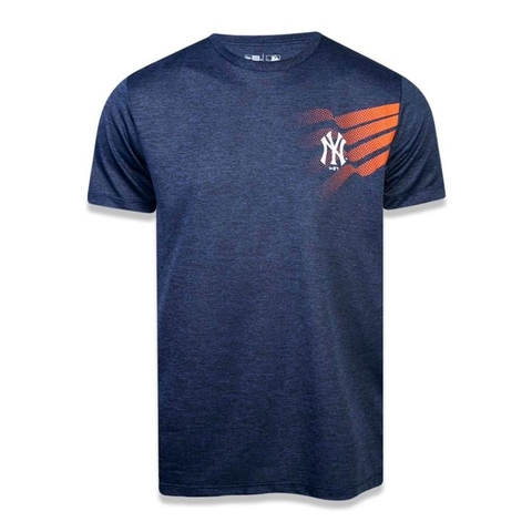 Camiseta Performance One NY Mescla Marinho - New Era