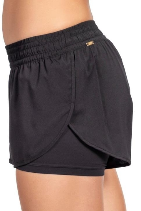 Shorts Color Essential Preto Feminino - Live!