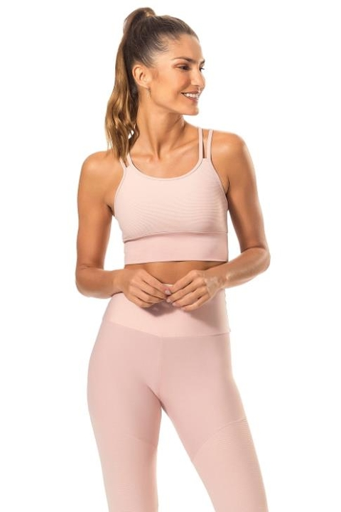 Top Cropped Strappy Light Emotion Rosa - Live!