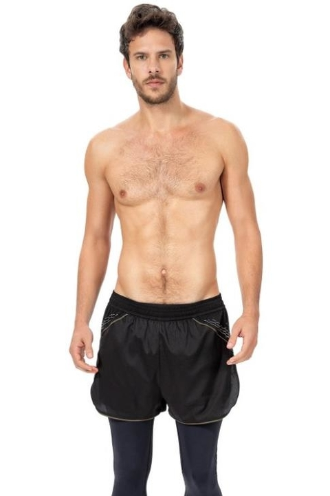 Shorts Running Reconnect Preto Masculino - Live!