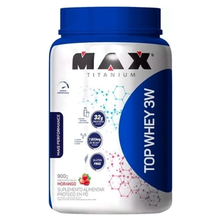 Top Whey 3W +Performance 900g Morango - Max Titanium