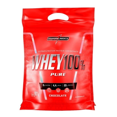Whey 100% Pure Refil 907g Chocolate - Integralmedica