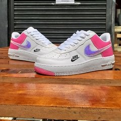 Nike Air Force Holográfico Branco/Rosa na internet