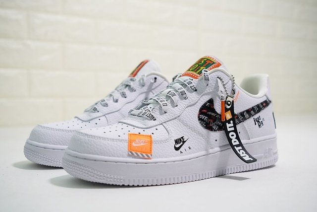 nike just do it air force 1 orange