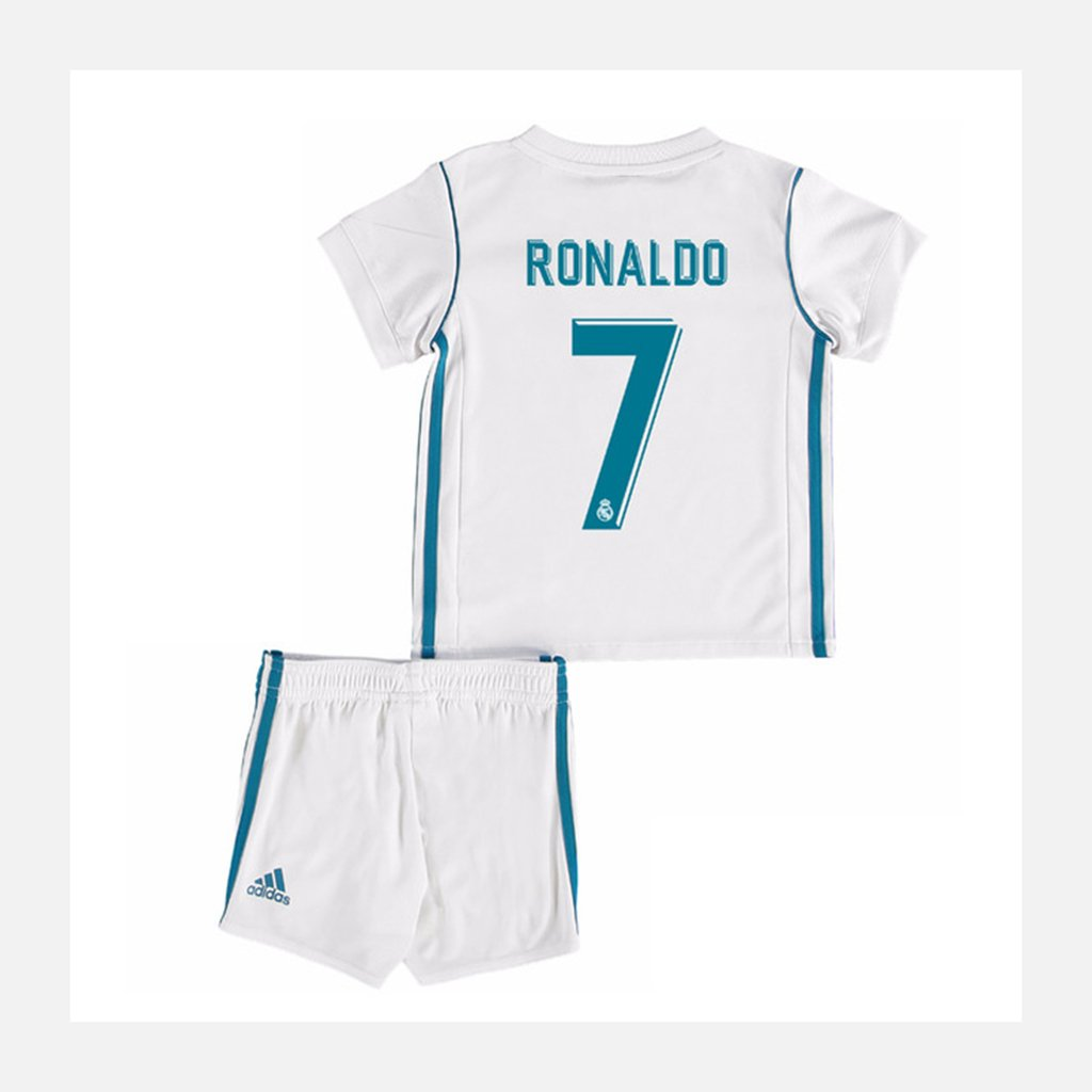 b90b70ea0ec20 Kit Niños Real Madrid Camiseta + Short Cristiano Ronaldo 17 18