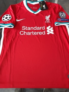 Camiseta Nike Liverpool Titular Alexander-Arnold #66 2020 2021 Parches Champions UCL - comprar online