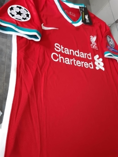 Camiseta Nike Liverpool Titular Alexander-Arnold #66 2020 2021 Parches Champions UCL - Roda Indumentaria