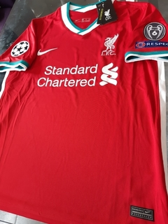 Camiseta Nike Liverpool Titular Alexander-Arnold #66 2020 2021 Parches Champions UCL en internet
