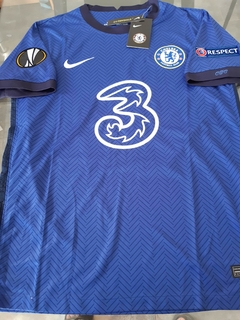 Camiseta Nike Chelsea Titular Werner #11 2020 2021 Parches Europa League