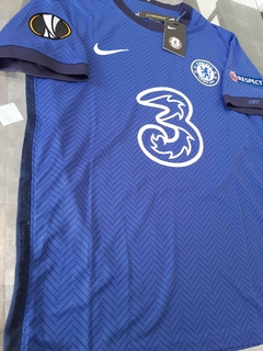 Camiseta Nike Chelsea Titular Werner #11 2020 2021 Parches Europa League en internet