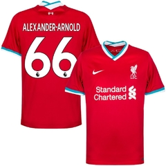 Camiseta Nike Liverpool Titular Alexander-Arnold #66 2020 2021 Parches Champions UCL