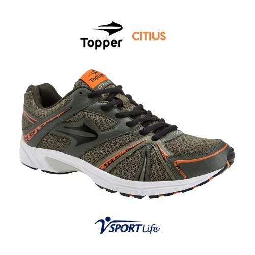 Zapatillas Topper Deportivas Adulto Verde Y Naranja