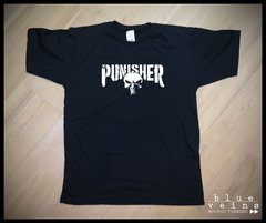 Remera Comics Punisher Netflix logo