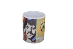 Caneca Cerâmica / Porcelana Beatles Faces 325ml