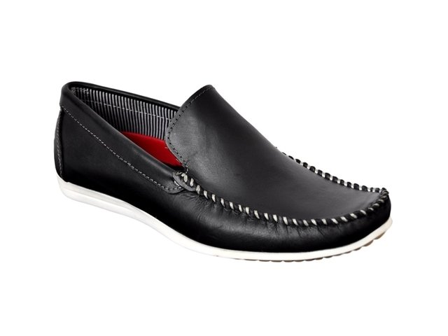Zapato Hombre Mocasín Náutico De Cuero Campus Art  7090 d85b99440a4