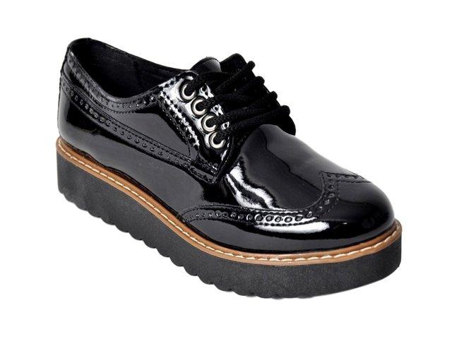 0aa7b11e Zapato Charol Mujer Savage 55 Con Cordón Super Liviano