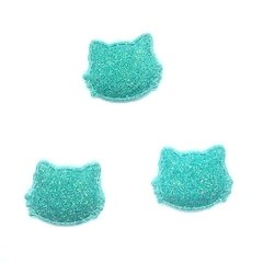 aplique hello kitty glitter fino verde agua