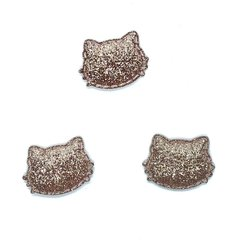 aplique hello kitty glitter fino rose gold