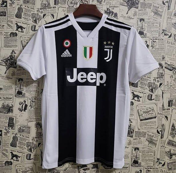 95e4a62c40 Camisa Juventus Home 2018 s n° - Torcedor Masculina - Preto e Branco