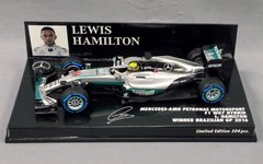 Mercedes F1 W07 L.Hamilton - GP do Brasil 2016 - 1/43 Minichamps na internet