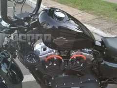 Imagem do Kit Relocador de Velocímetro + Luzes + Tampa Riser - Harley Davidson Forty Eight 48 / Roadster