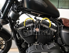 Kit Relocador De Bobina + Cabos De Vela 8 mm - Harley Davidson 883 / Forty Eight - Guerra Custom Design