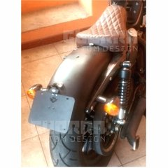 Suporte De Placa Inclinado M2 - Harley Davidson Sportster Iron 883 / Forty Eight 1200 - Guerra Custom Design