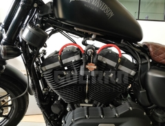 Kit Relocador De Bobina + Cabos De Vela 8 mm - Harley Davidson 883 / Forty Eight na internet