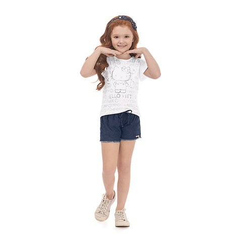 Blusa Hello Kitty Infantil 87989 0101 1218