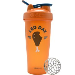 Blender Classic - Blender Bottle - 830ml - Laranja - Leg Day