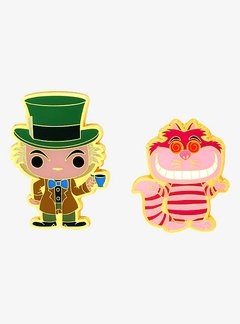 Broche Pin - Chesire Cat e Chapeleiro Maluco - Funko