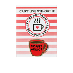 Broche Pin - Coffe Addict - Candy Doll Club - comprar online