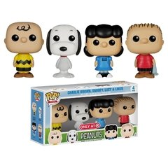 Charlie Brown, Snoopy, Lucy & Linus - Funko Peanuts - Pop! Minis - 04 pack - Target Exclusive