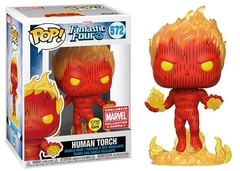 Human Torch - Funko - Marvel - Fantastic Four - 572 - Collector Corps Exclusive - Glows in the dark