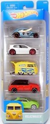 Kit 5 carrinhos - Hot Wheels - Volkswagen - DJD20