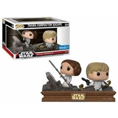 Princess Leia e Luke Skywalker - Pop! Movie Moments - Funko - 224 - Star Wars - Trash Compactor Escape