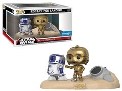 R2-D2 e C3PO - Pop! Movie Moments - Funko - 222 - Star Wars - Escape Pod Landing