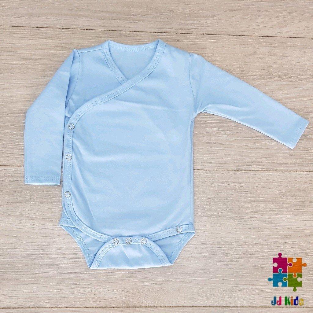 a6a7e47a0c6e Body kimono para bebê manga longa azul - JJ KIDS