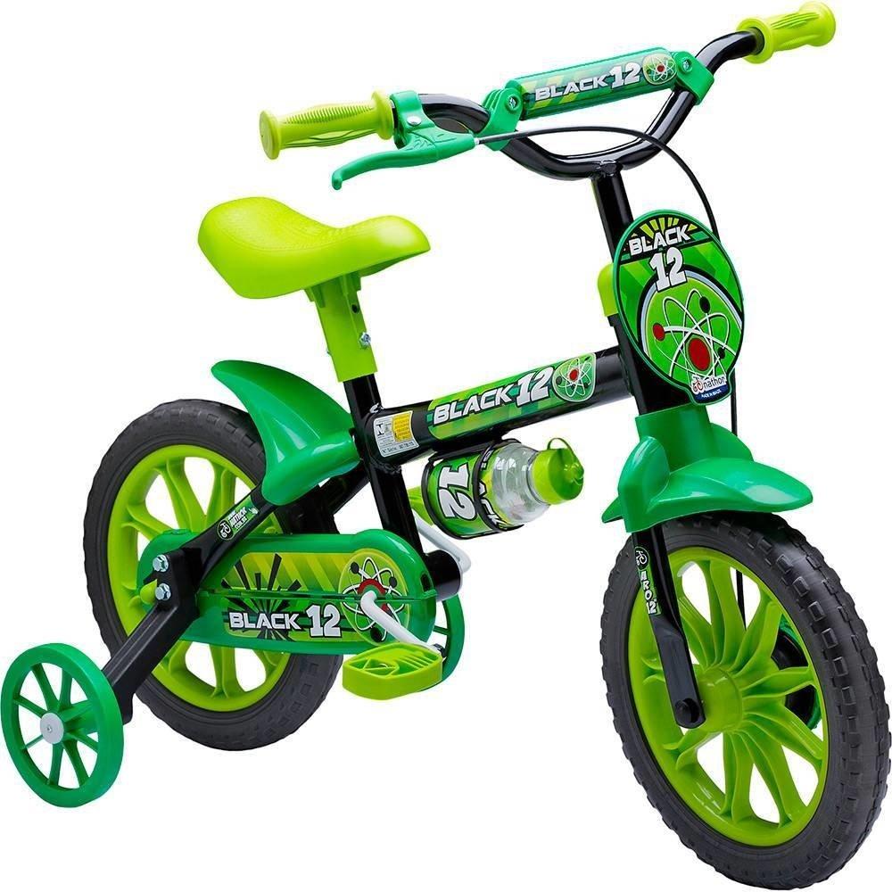 eac29c8e1 Bicicleta Infantil Nathor Aro 12 - Black 12