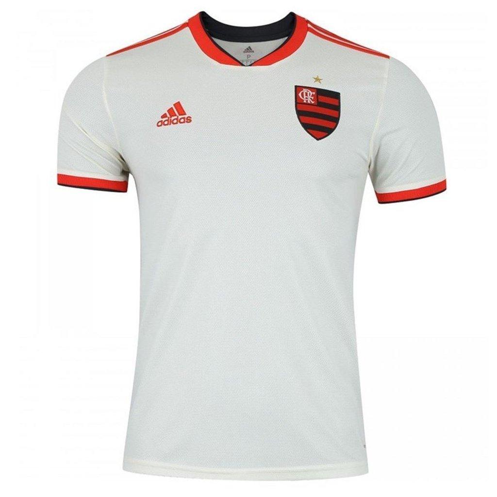 6a0f57c34 Camisa Flamengo II 2018 s/n° Torcedor Adidas Masculina - Off White e  Vermelho