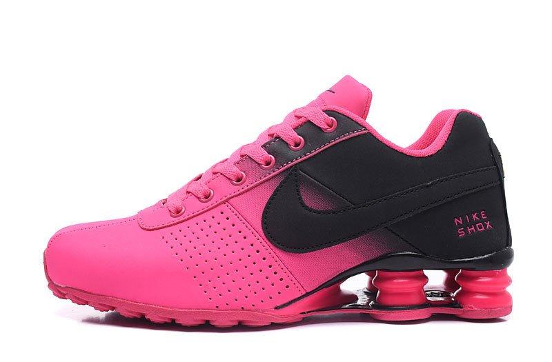 74d3496bd2d7c Tênis Nike Shox Deliver Rosa/Preto - Resenha Outlet
