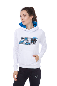W GRAPHICS HOODIE BUZO CON CAPUCHA MUJER (100) WHITE