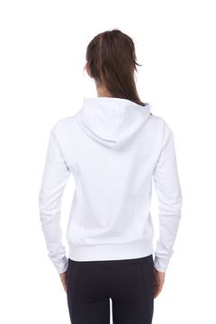 W GRAPHICS HOODIE BUZO CON CAPUCHA MUJER (100) WHITE - comprar online