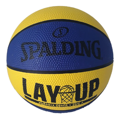 PELOTA DE BASQUET SPALDING NBA N° 3 LAY UP JUNIOR YELLOW BLUE