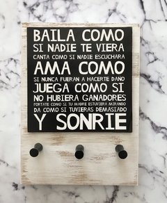 ♛PORTALLAVES DE PARED DE 3. BAILA♛